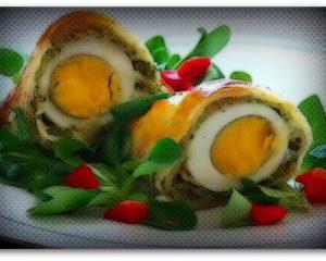Јајца во пакетчиња лиснато тесто