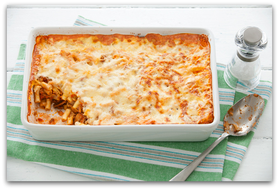 Запечени макарони со мелено месо и шампињони2