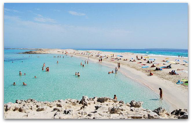 Плажата Сес Иљетес - Форментера, Шпанија