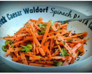 Витаминска салата со моркови (посно)